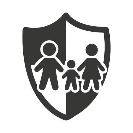 family isolated: family insurance isolated icon vector illustration design