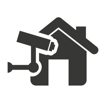 biens d'assurance maison icône isolé illustration vectorielle conception