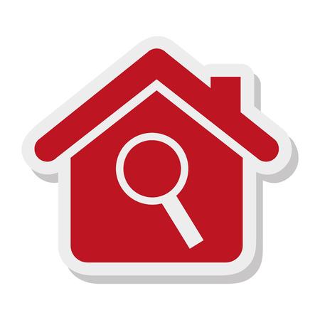 maison propriété isolé icône vector illustration design