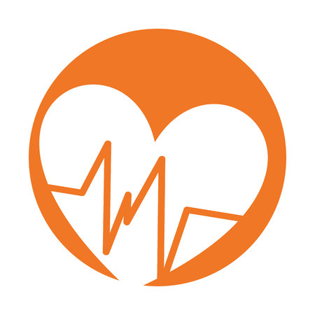 cardio: heart cardio isolated icon vector illustration graphic Illustration