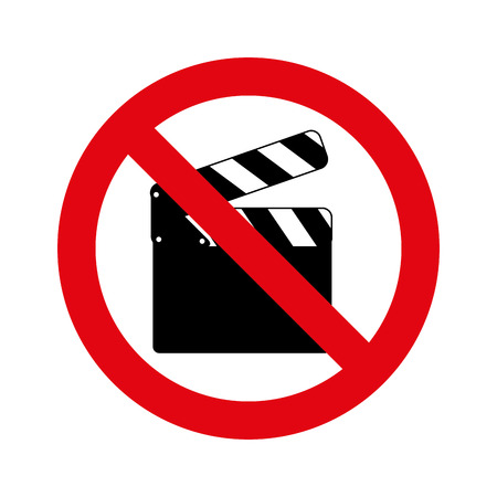 unauthorized: denied circle red prohibited icon vector illustration design
