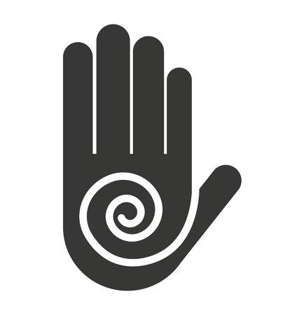 handprint: hand fingers stop handprint icon vector illustration
