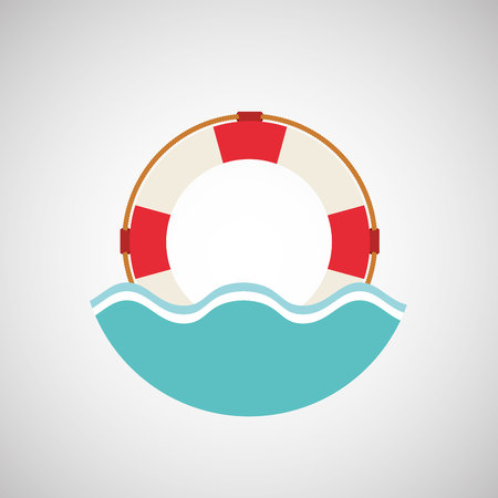 life guard: life guard, vacation on beach icon, vector illustration