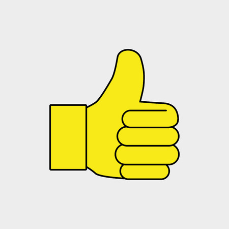 hand ok thumb finger vector illustration  graphic