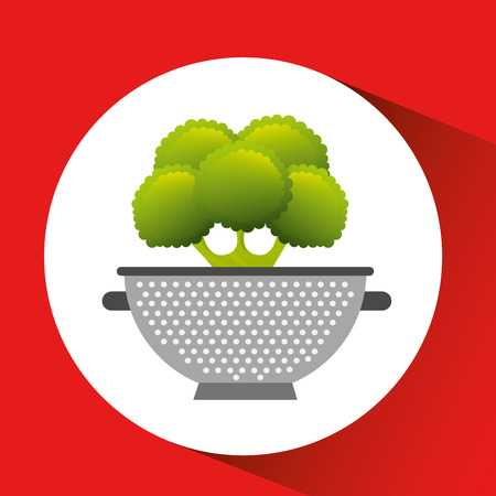 vegetable with cooking pot icon, vector illustration