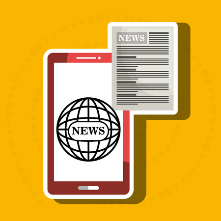 reading app: news online with smartphone isolated icon design, vector illustration  graphic