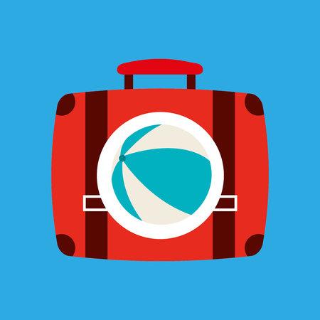 ball, vacation on beach icon, vector illustration Illustration