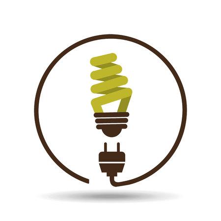 light green: save energy icon, green light bulb, vector illustration