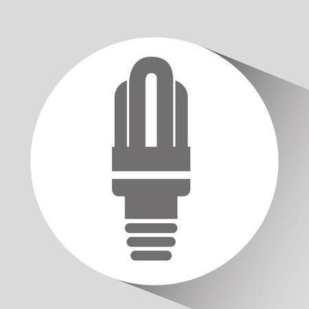 green light bulb: save energy icon, green light bulb, vector illustration