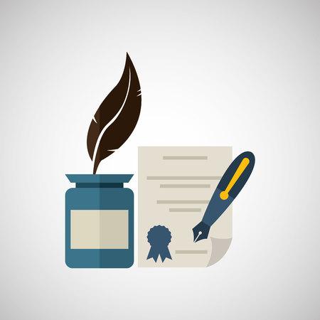grad: university grad, education ceremony icon, vector illustration Illustration