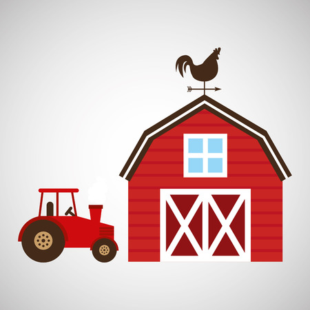 truck, chicken and farm icon, vector illustration