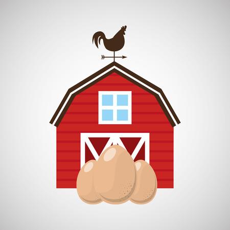 market gardening: organic egg food in farm icon, vector illustration Illustration