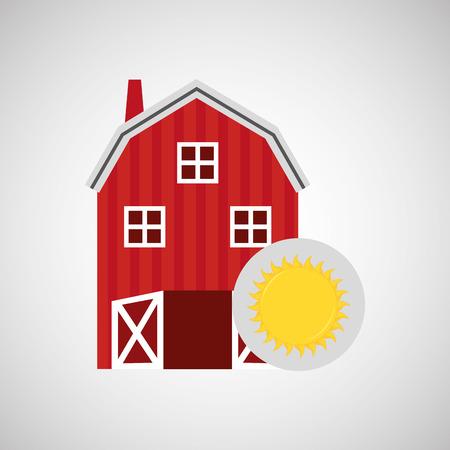 market gardening: fresh organic food in farm icon, vector illustration Illustration