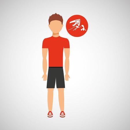 jumpsuit: man practicing parachute icon , vector illustration design Illustration