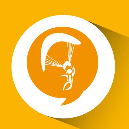 jumpsuit: silhouette thinking in parachute design, vector illustration