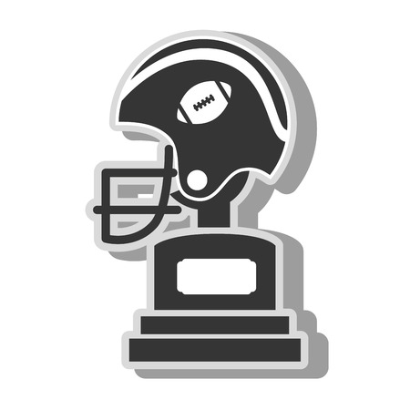 football trophy: american football trophy , isolated flat icon design Illustration