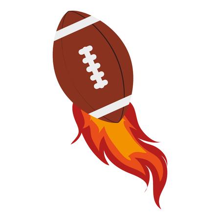 football ball: american football ball, isolated flat icon design Illustration