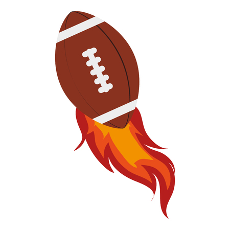 american football ball, isolated flat icon design Illustration