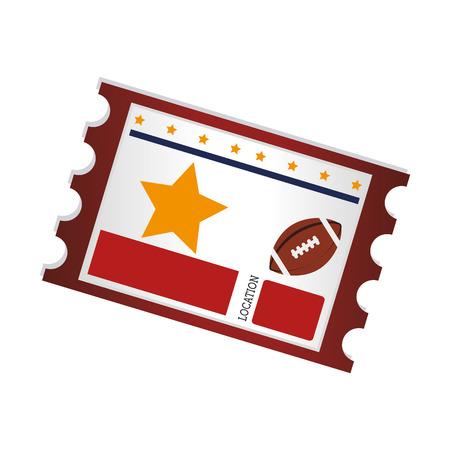 footbal: american footbal ticket , isolated flat icon design