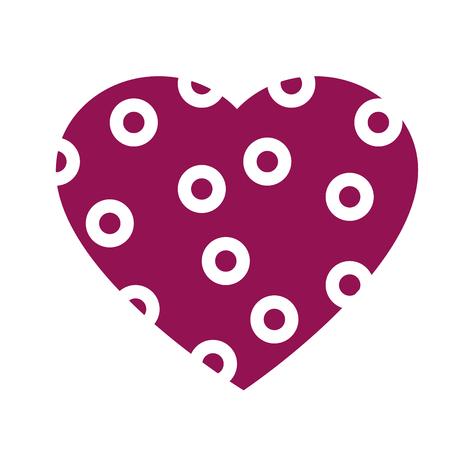 heart love romantic , isolated flat icon design Illustration