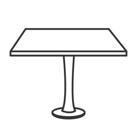 design office: table desk office, isolated flat icon design Illustration