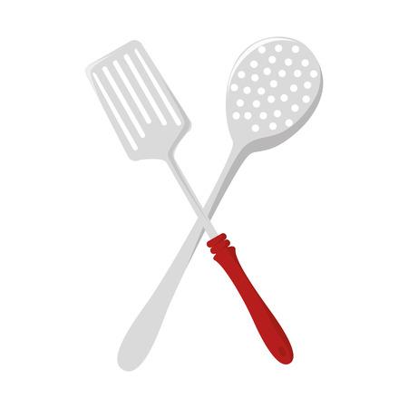 Kitchen dishware isolated flat icon, vector illustration graphic.