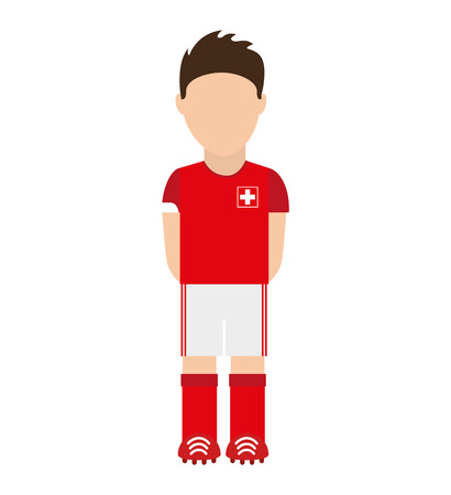 swiss: Swiss football player icon vector illustration graphic Illustration