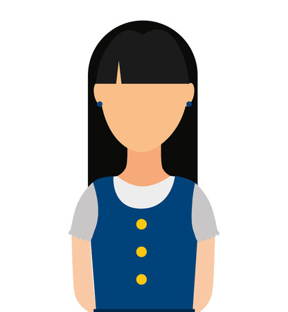 swiss: woman person of Swiss culture vector illustration graphic