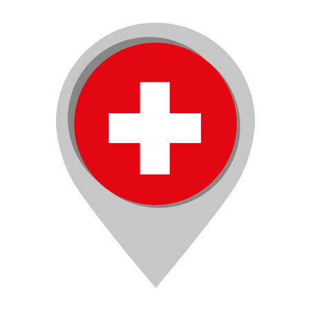 swiss: Swiss emblem isolated icon vector illustration graphic