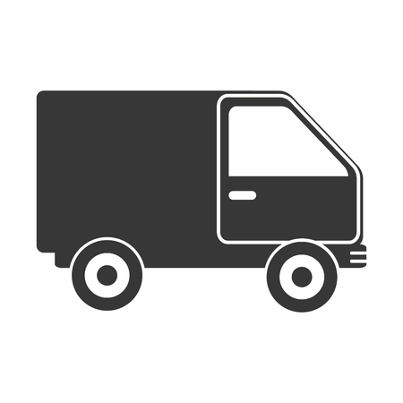 article marketing: truck delivery transport ,isolated flat icon design