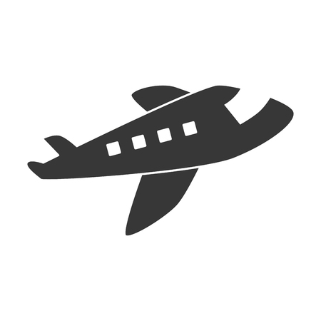 jet airplane: jet airplane flying ,isolated flat icon design