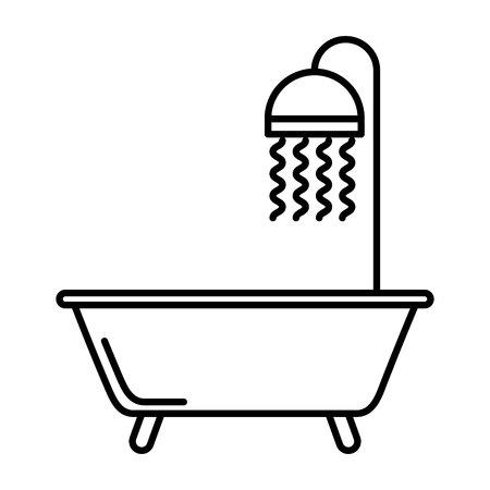bath tub: bath tub clean icon vector illustration design Illustration