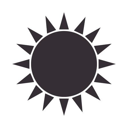 sun glow symbol ,isolated flat icon design Illustration