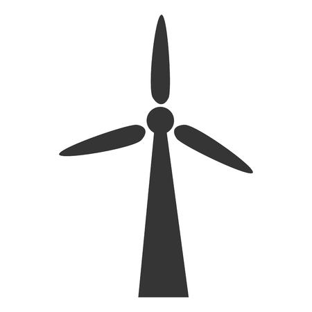Windturbine Windenergie, isoliert flach Icon Design Vektorgrafik