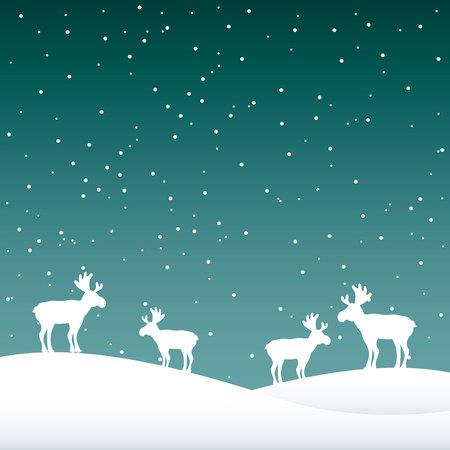 Schneelandschaft Nacht Hintergrund Symbol Vektor-Illustration, Design,
