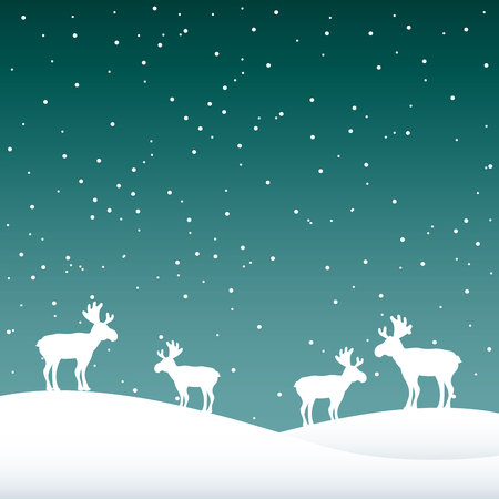snowscape: snowscape night background icon vector illustration design