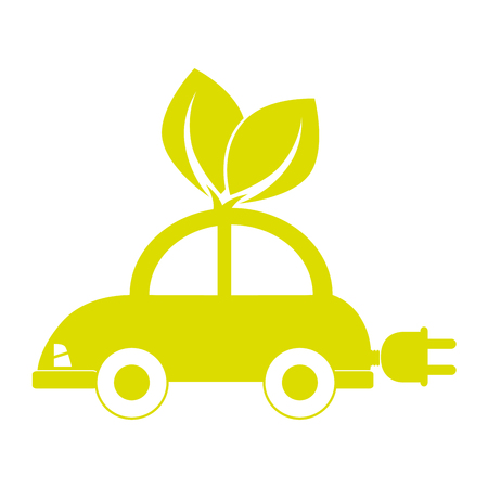 electric power: electric vehicle car , isolated flat icon design