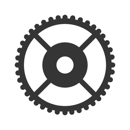 gearing: Gear cog wheel, isolated flat icon design.