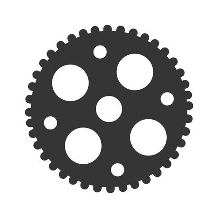 cog wheel: Gear cog wheel, isolated flat icon design.