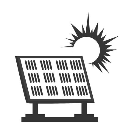 radiate: solar panel energy, isolated flat icon design