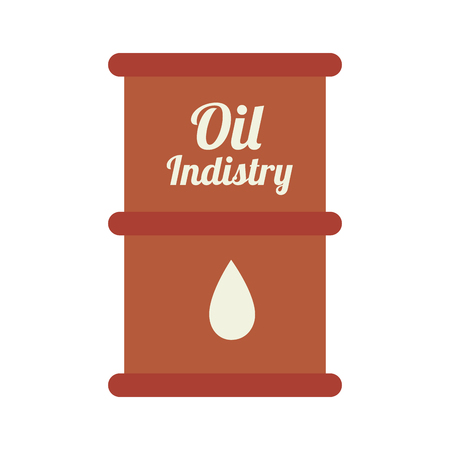 corrosive poison: oil barrel industry, isolated flat icon design