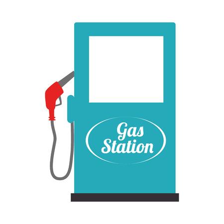 corrosive poison: gas station industry, isolated flat icon design Illustration