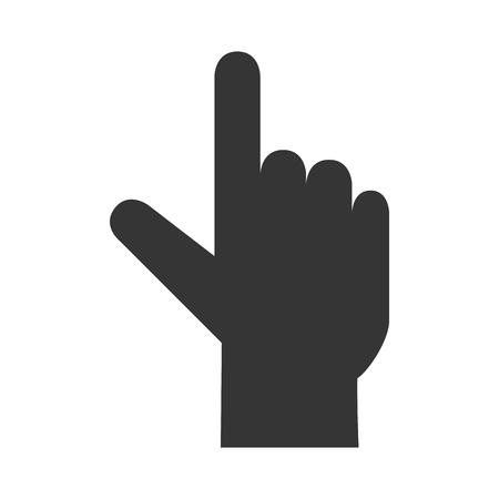 pointing up: hand pointing up, isolated flat icon design