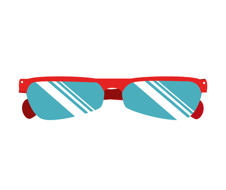 wear: cyclist sunglasses wear isolated flat icon design Illustration