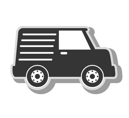 cargo van: cargo van vehicle, isolated flat icon design
