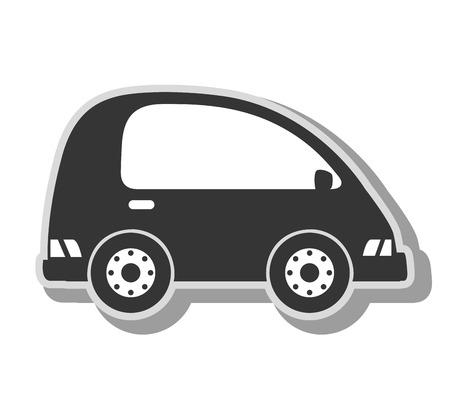 minivan: minivan vehicle transport, isolated flat icon design
