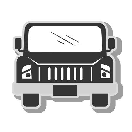 pickup: pick-up vehicle transport, isolated flat icon design
