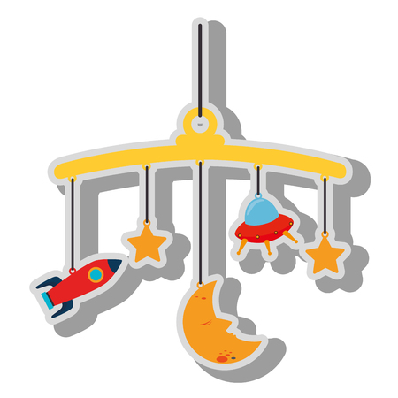 Toy for little kids isolated flat icon, vector illustration graphic design.