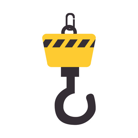 construction equipment: crane construction equipment, isolated flat icon design