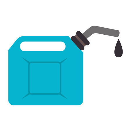 oil can: fuel oil can, isolated flat icon design